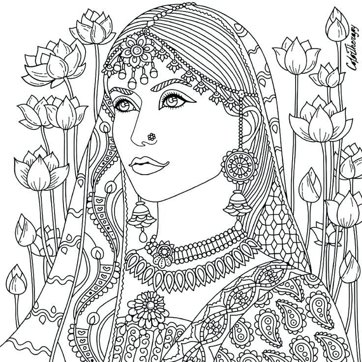Native American Woman Drawing at GetDrawings Free for personal - best of indian tribal coloring pages