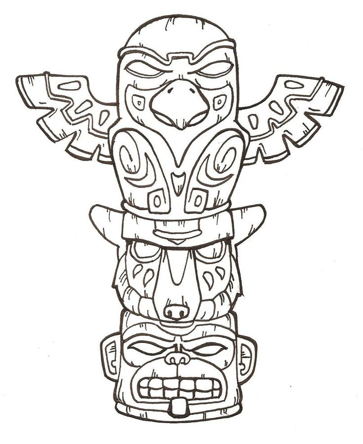 Owl Totem Pole Drawing at GetDrawings Free for personal use