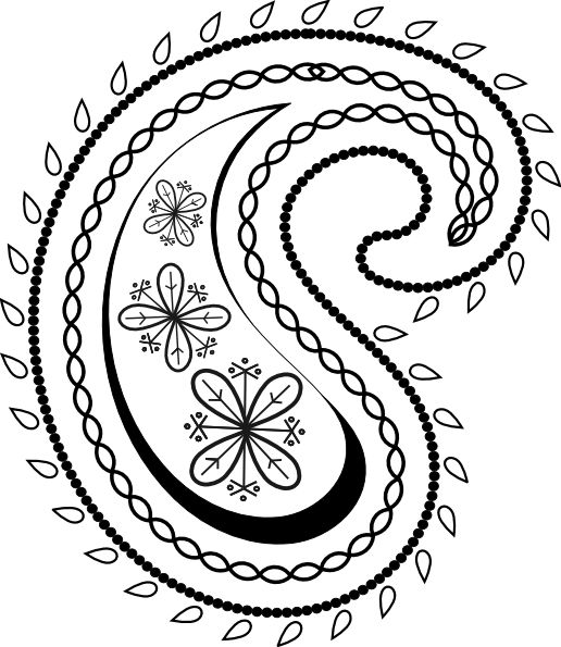 Paisley Line Drawing at GetDrawings Free for personal use