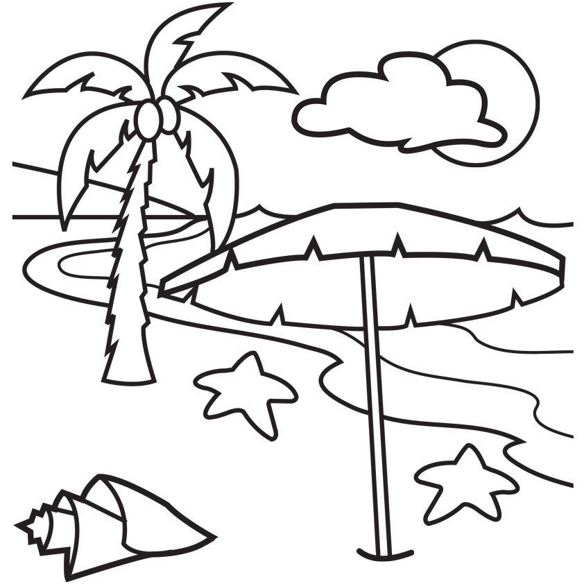 Palm Tree Beach Drawing at GetDrawings Free for personal use
