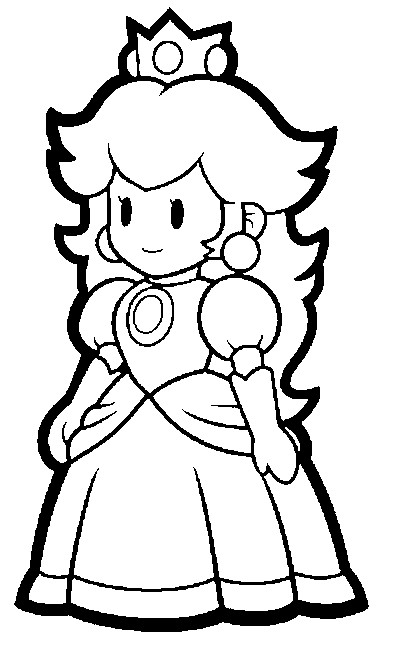 Paper Mario Drawing at GetDrawings Free for personal use Paper - mario coloring pages