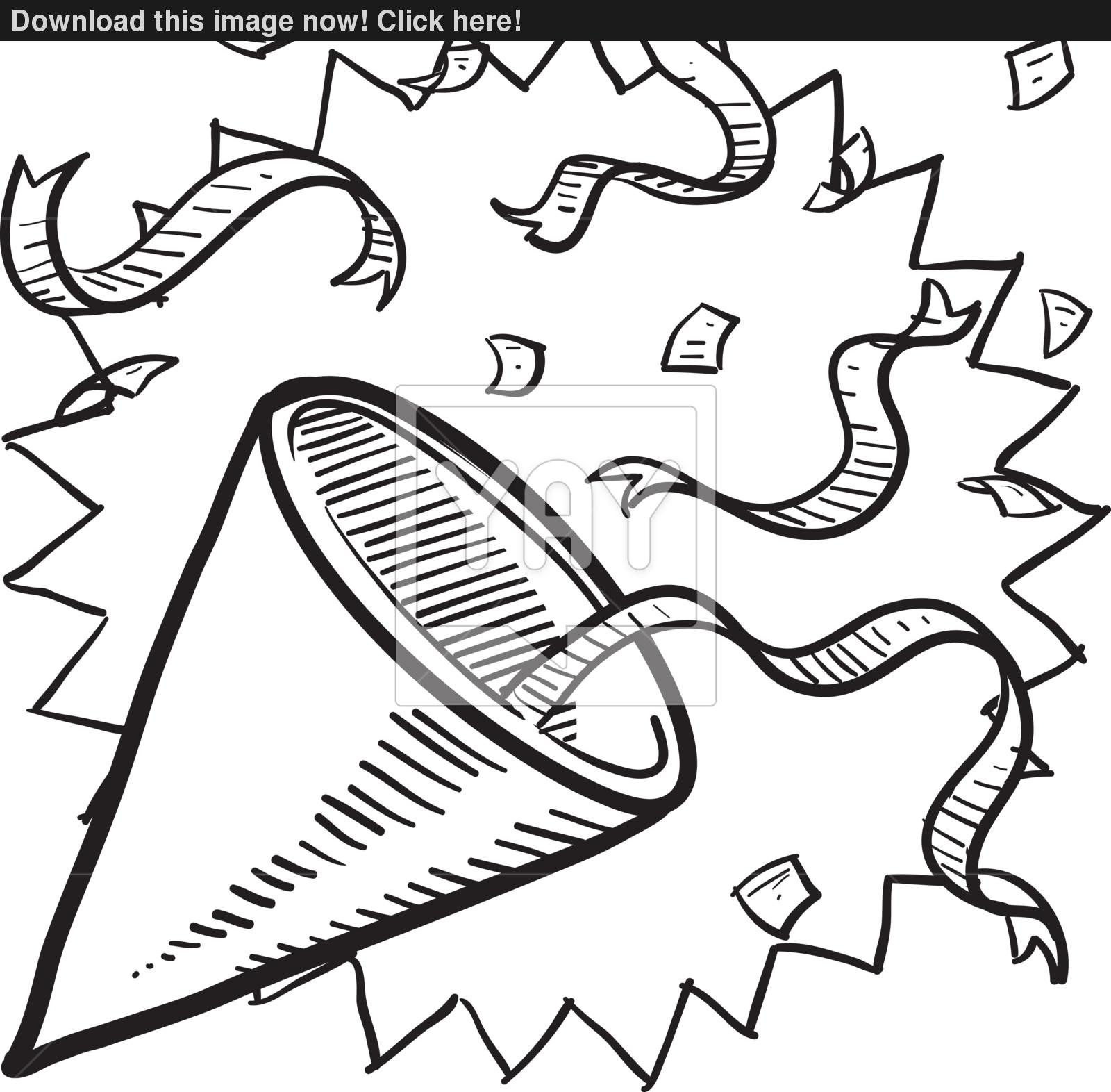 Party Hat Clipart Black And White Party Hat Drawing At Getdrawings Free For Personal Use Party