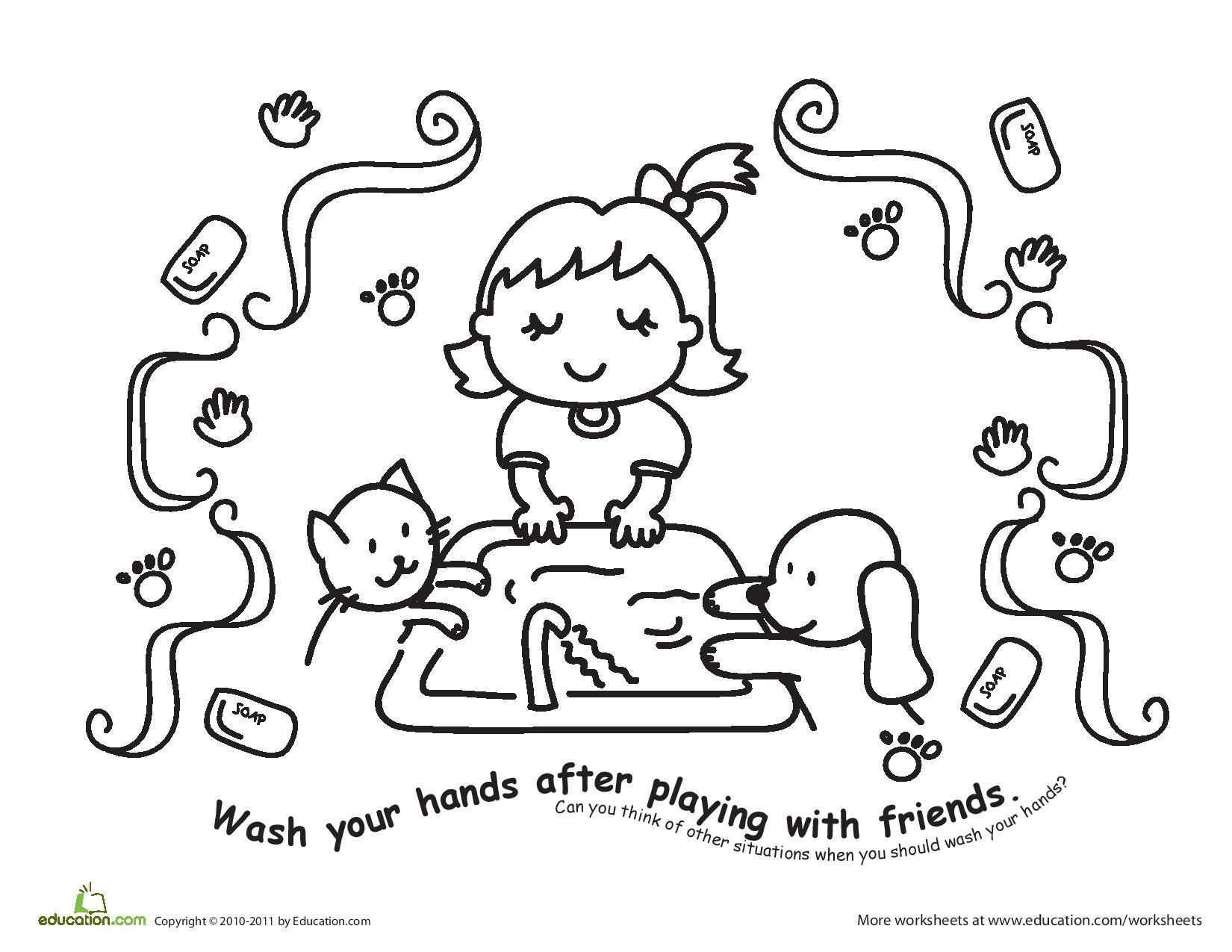 Dental Hygiene Coloring Pages - Eskayalitim