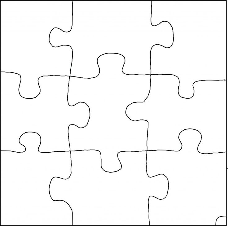 Puzzle Piece Drawing at GetDrawings Free for personal use - puzzle pieces template
