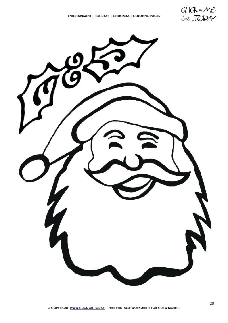 Santa Face Drawing at GetDrawings Free for personal use Santa