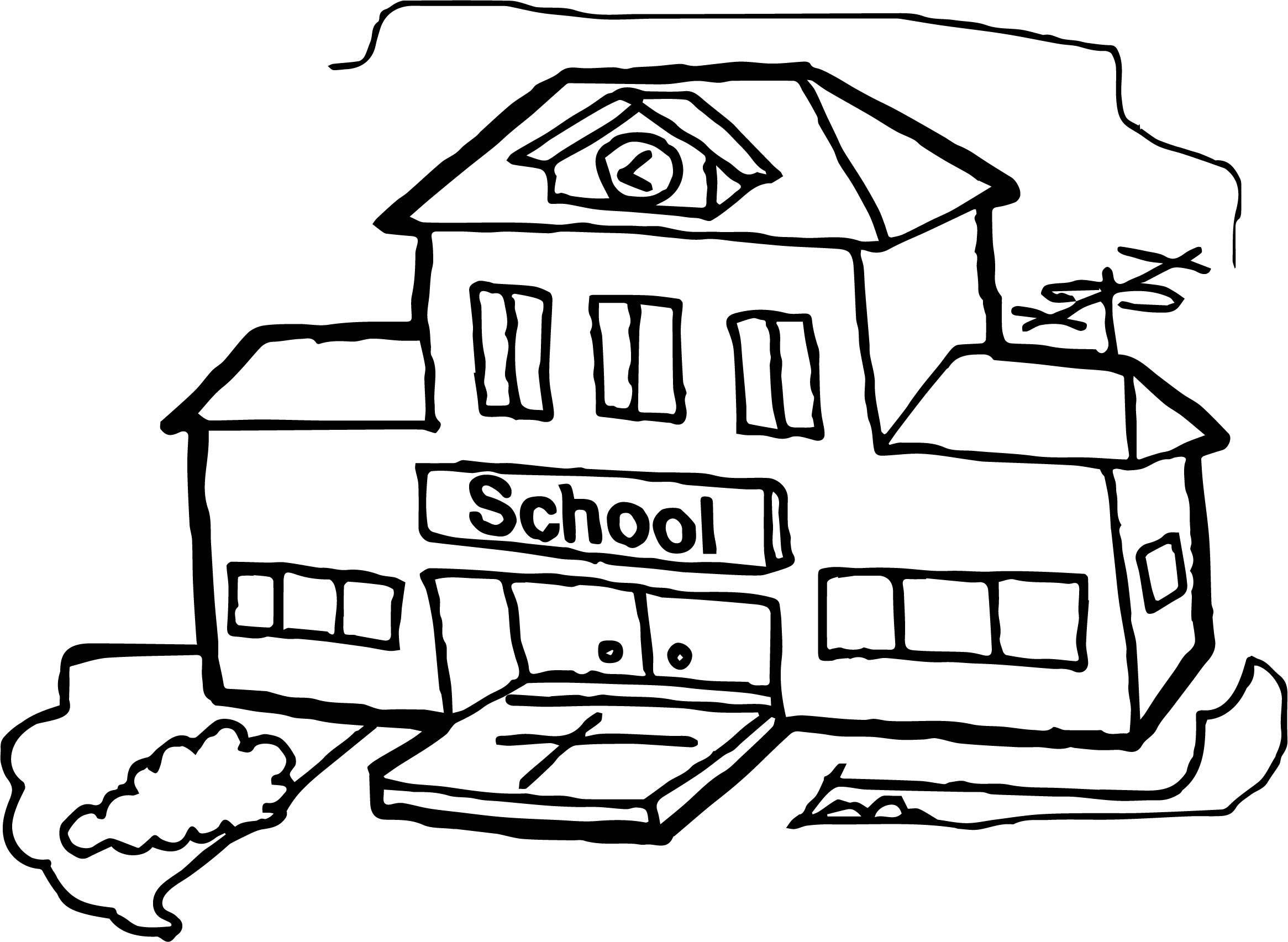 School Line Drawing At Getdrawingscom Free For Personal