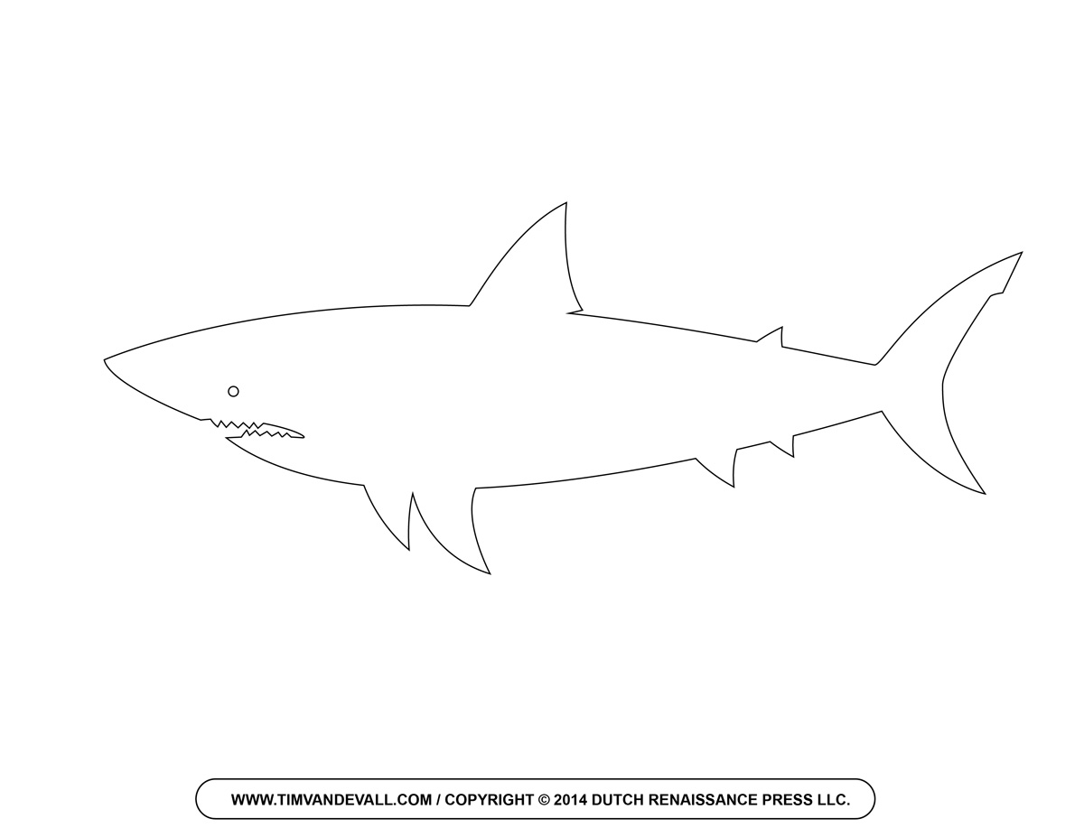 Shark Drawing Template At Getdrawingscom Free For