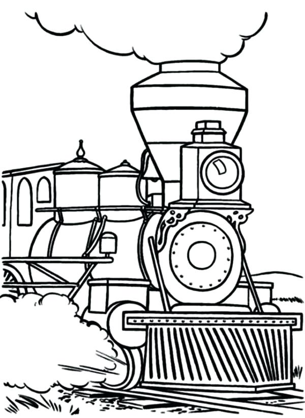 Simple Steam Train Drawing at GetDrawings Free for personal
