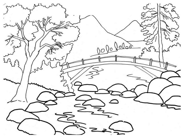Simple Waterfall Drawing at GetDrawings Free for personal use - best of waterfall coloring pages