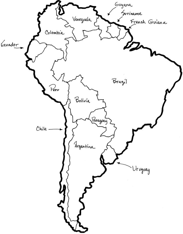 South America Drawing at GetDrawings Free for personal use - latin america blank map