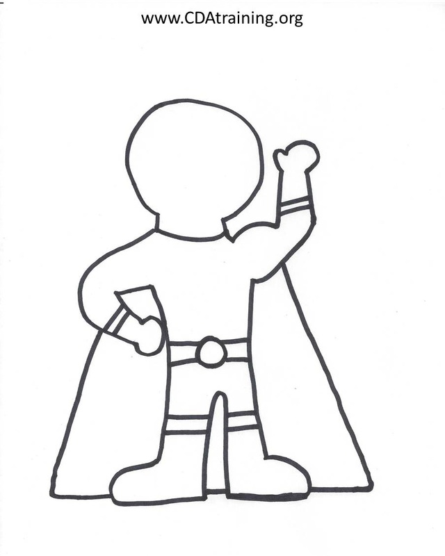 Superhero Drawing Template at GetDrawings Free for personal - make your own template