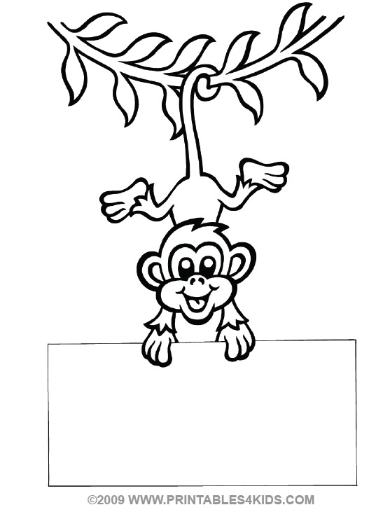 Swinging Monkey Drawing at GetDrawings Free for personal use