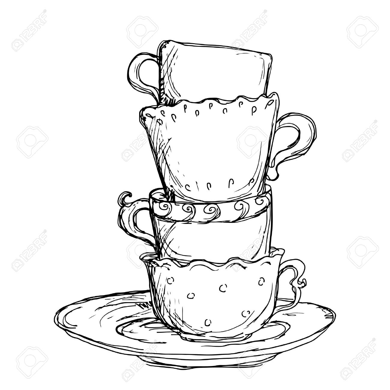Lovable A Teacup Tea Cup Drawing At Free Drawing Tea Cups Cartoon Tea Cup Images Personal Use Tea Cup Cartoon Images furniture Cartoon Tea Cups