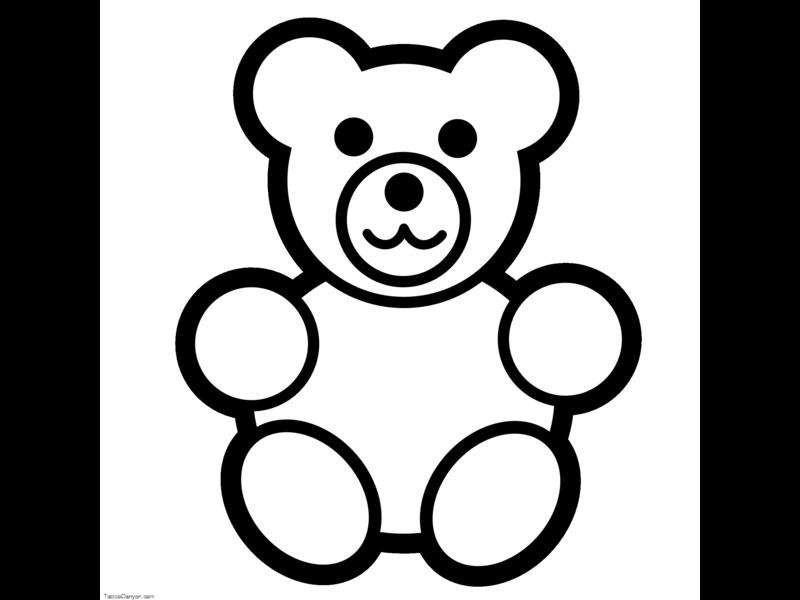 Bear Template - Baskanidaiteddy bear template christmas patterns ...