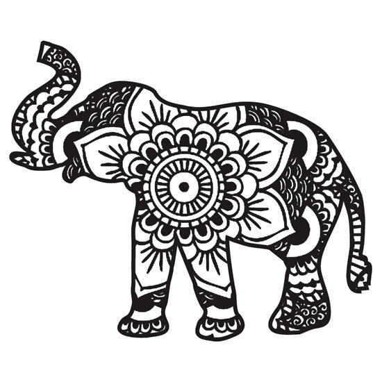 Tribal Elephant Drawing at GetDrawings Free for personal use - best of indian tribal coloring pages