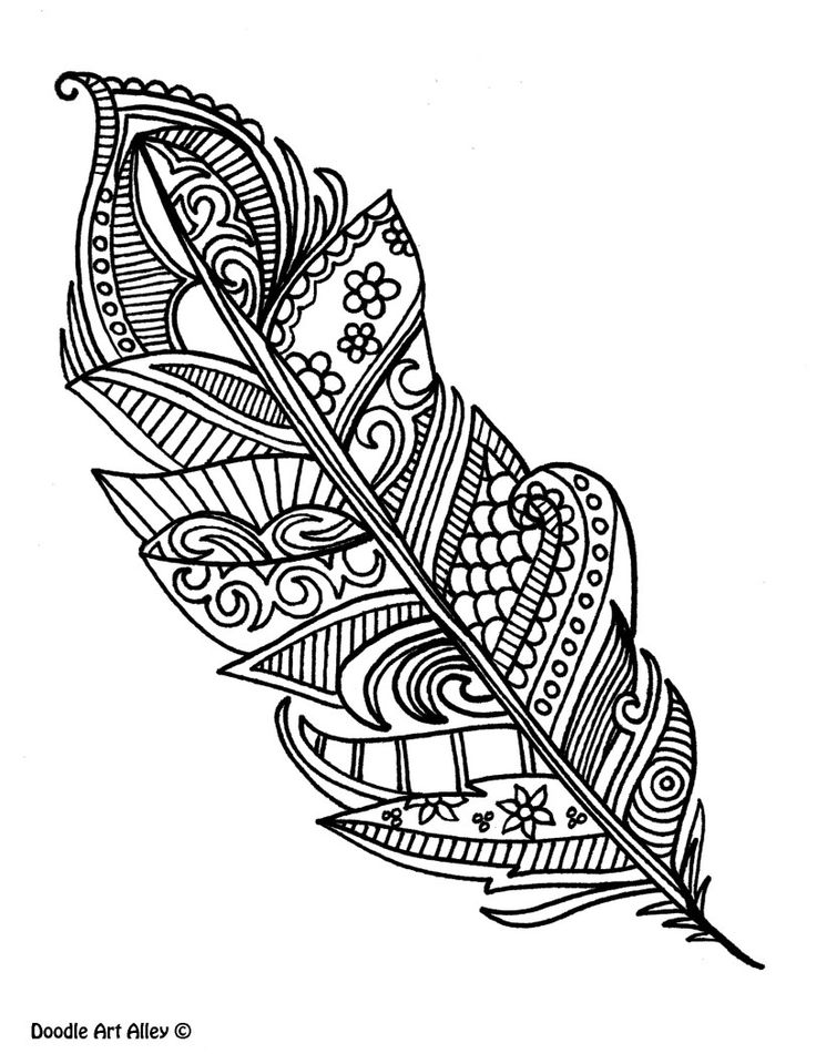 Tribal Feather Drawing at GetDrawings Free for personal use - best of indian tribal coloring pages