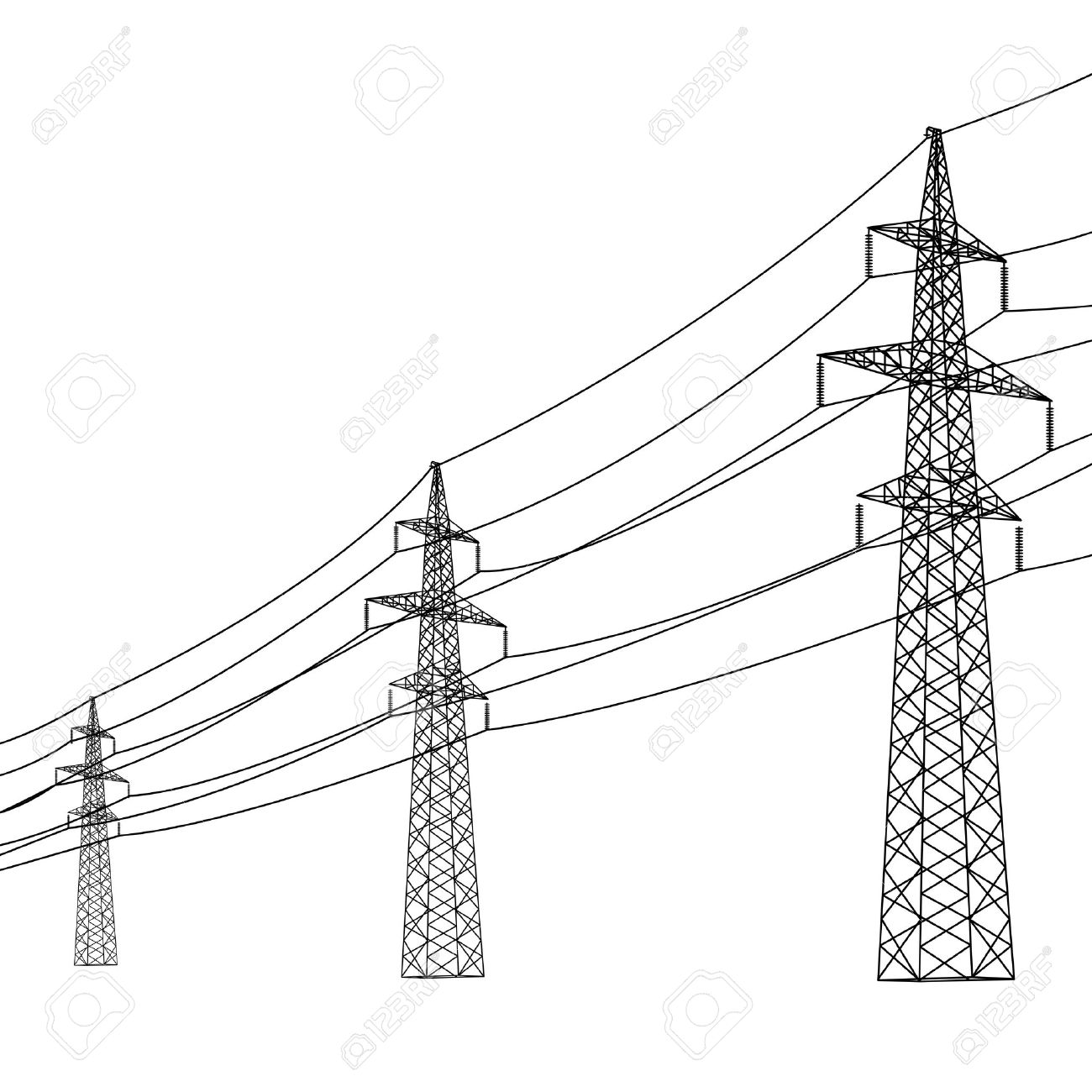 telephone pole wires diagram