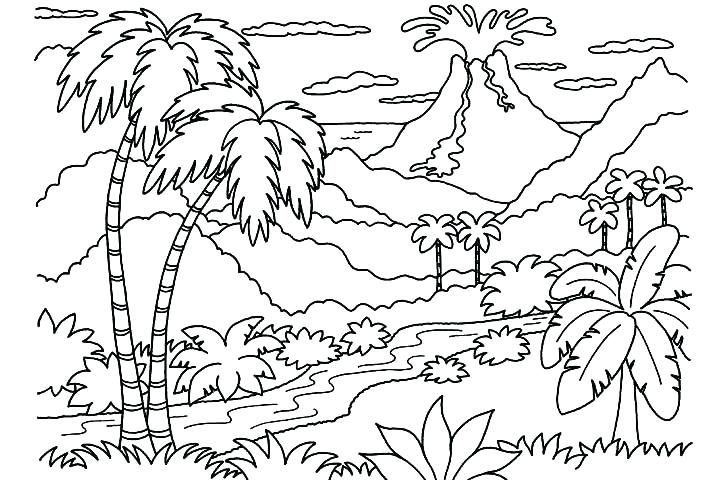 Waterfalls Drawing at GetDrawings Free for personal use - best of waterfall coloring pages