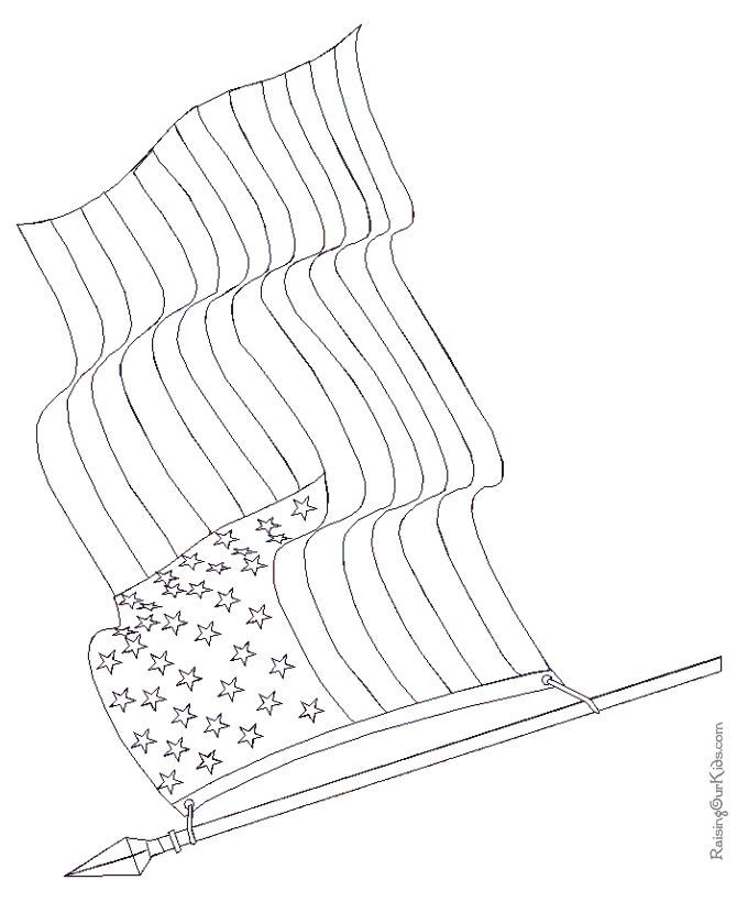 American Flag Line Drawing at GetDrawings Free for personal