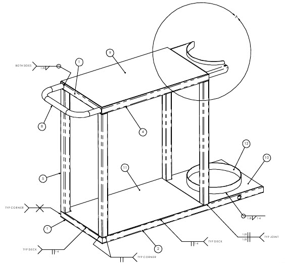 welding cart diagram