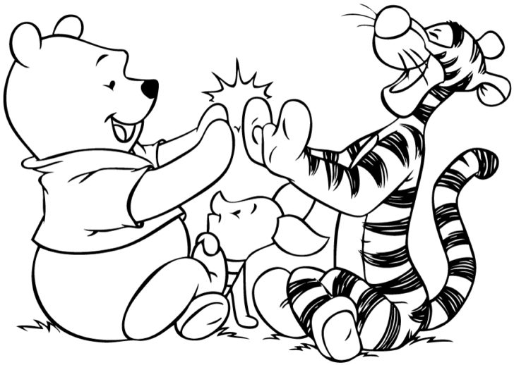 Cute Winnie The Pooh Coloring Pages - Castrophotos