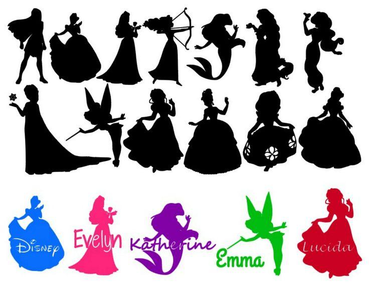 Disney Princess Silhouette Free Printables at GetDrawings Free