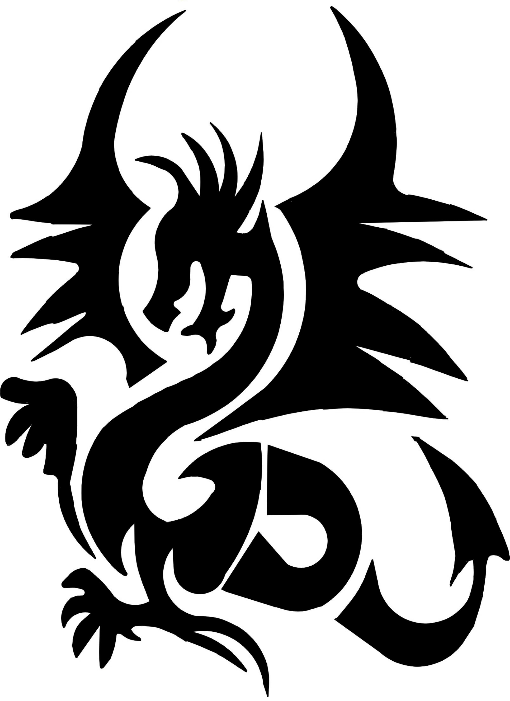 Drachen Tattoo Vorlagen Dragon Silhouette Tattoo At Getdrawings Free For Personal
