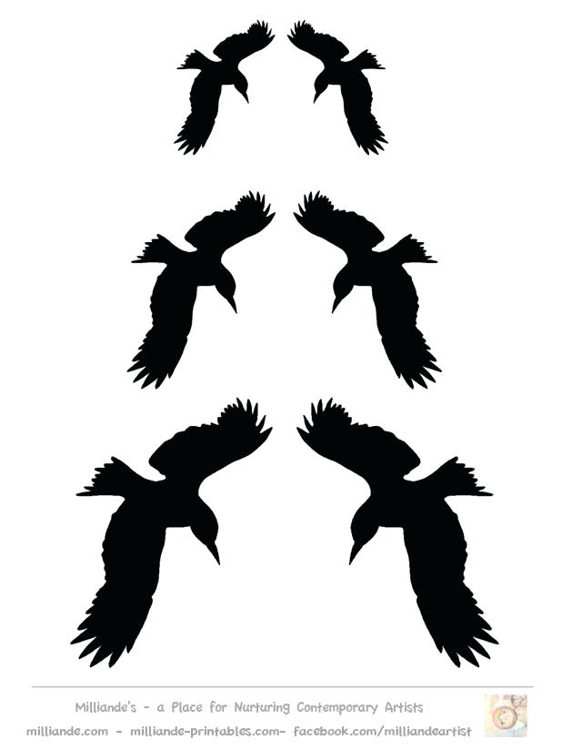 Flying Bird Silhouette Stencils at GetDrawings Free for