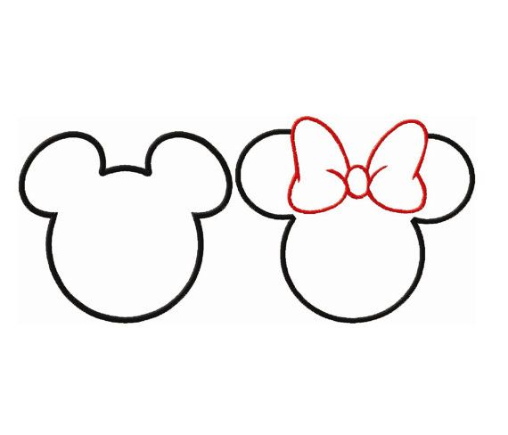 Minnie Mouse Head Silhouette at GetDrawings Free for personal