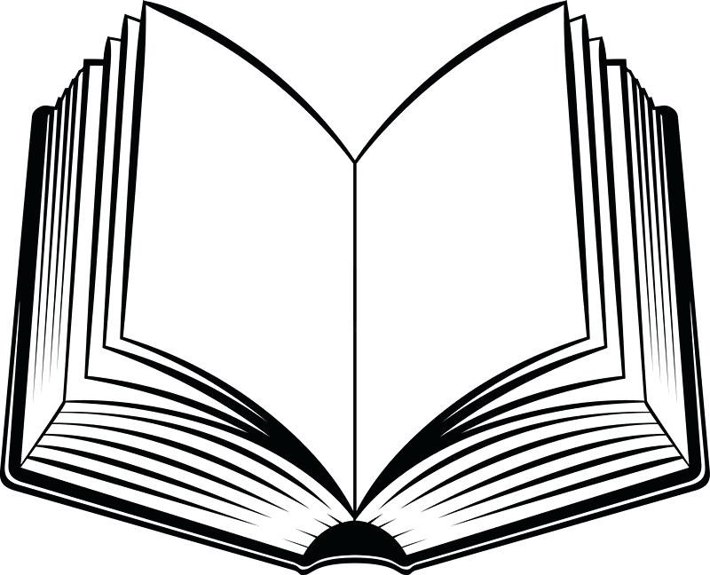 Open Book Silhouette at GetDrawings Free for personal use Open - open book coloring pages