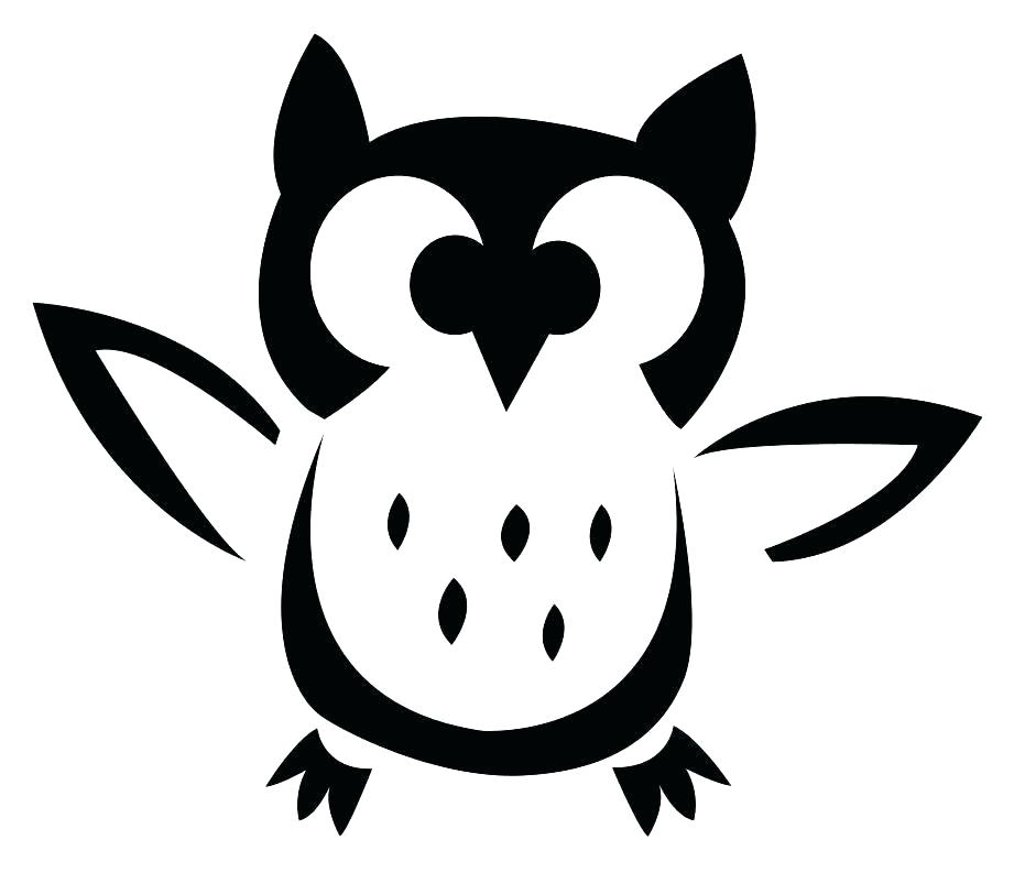 Owl Silhouette Template at GetDrawings Free for personal use