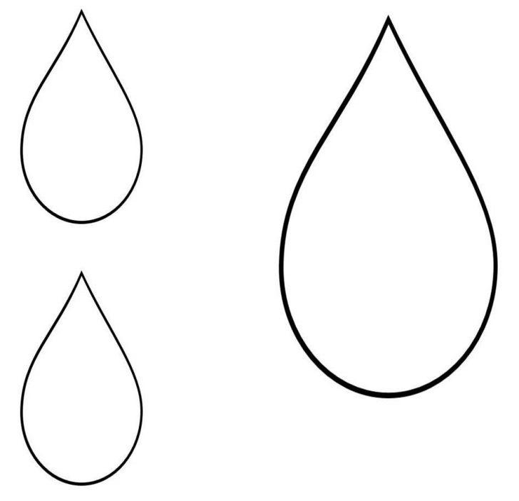 Raindrop Silhouette at GetDrawings Free for personal use - raindrop template