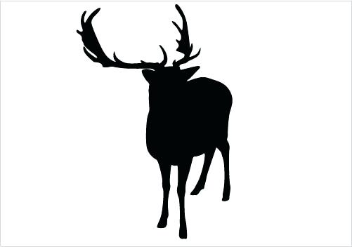 Reindeer Silhouette Head at GetDrawings Free for personal use