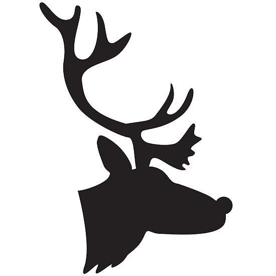 Reindeer Silhouette Template at GetDrawings Free for personal