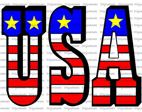 Silhouette American Flag at GetDrawings Free for personal use - word flag