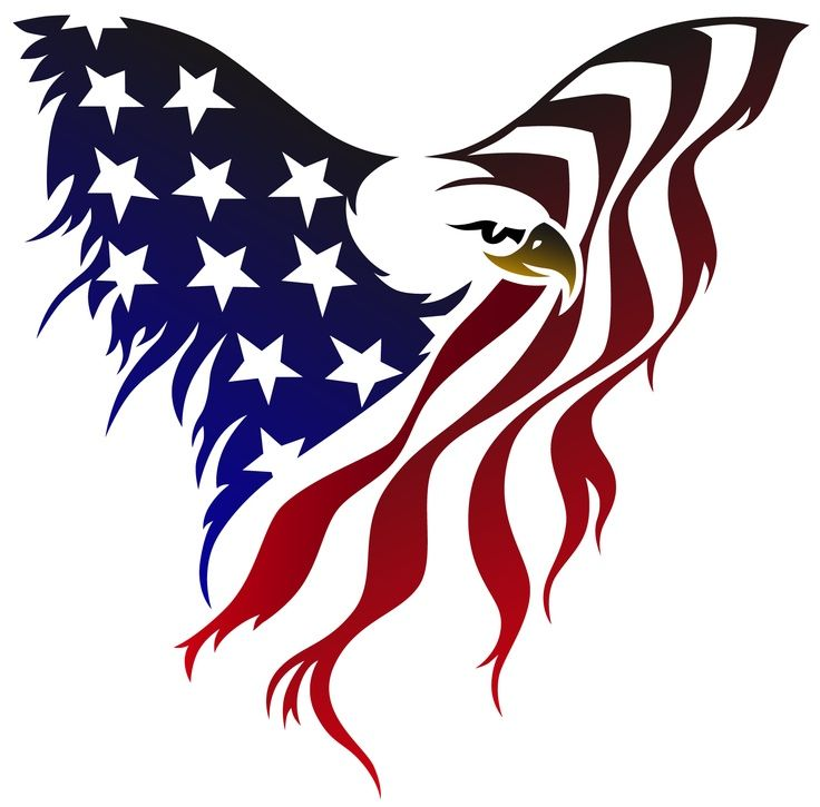 Silhouette American Flag at GetDrawings Free for personal use