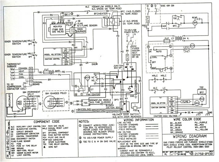 Hvac Drawing Notes Wiring Diagram
