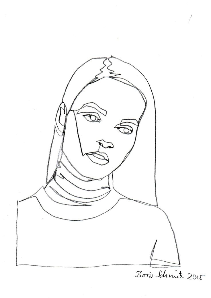 One Line Drawing Face at GetDrawings Free for personal use One - line drawing