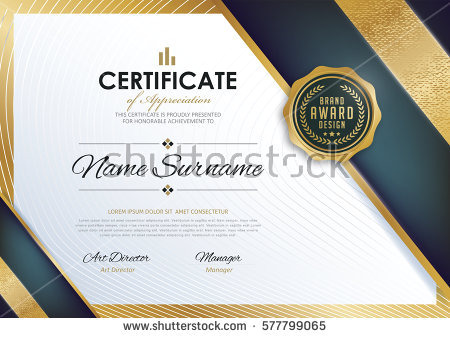 Certificate Template Vector at GetDrawings Free for personal
