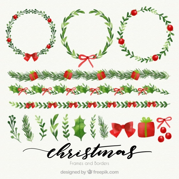 Christmas Frame Vector at GetDrawings Free for personal use