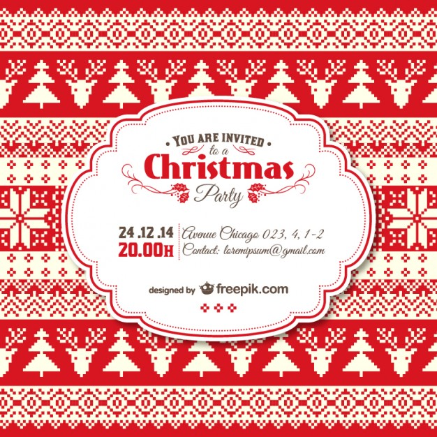 Christmas Invitation Vector at GetDrawings Free for personal