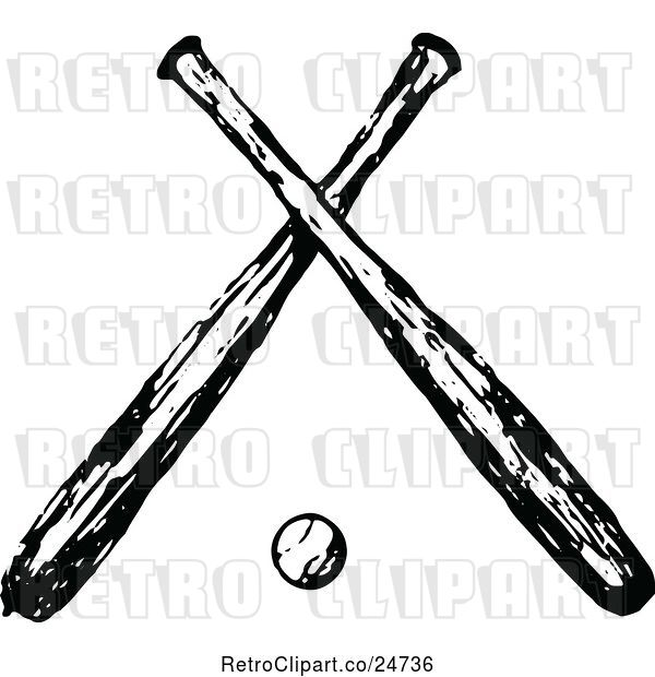 Crossed Bats Vector at GetDrawings Free for personal use