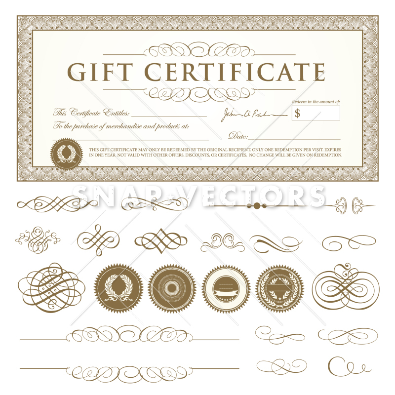 Gift Certificate Template Vector at GetDrawings Free for