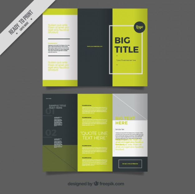 Tri Fold Brochure Design Vector at GetDrawings Free for