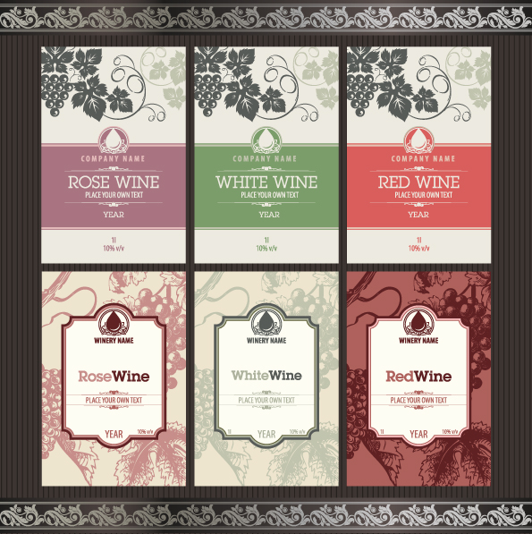 Wine Label Template Vector at GetDrawings Free for personal