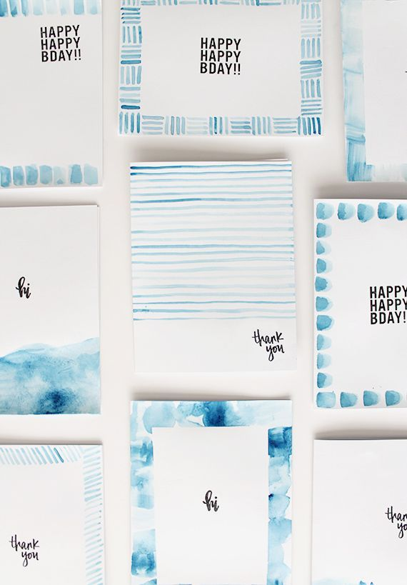 Watercolor Birthday Card Ideas at GetDrawings Free for