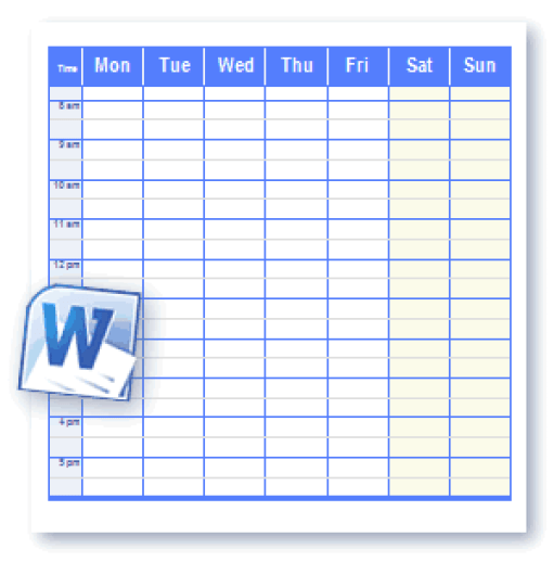 daily work schedule template 111
