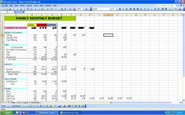 Budget Spreadsheet Template. Free Excel Budget Template Collection