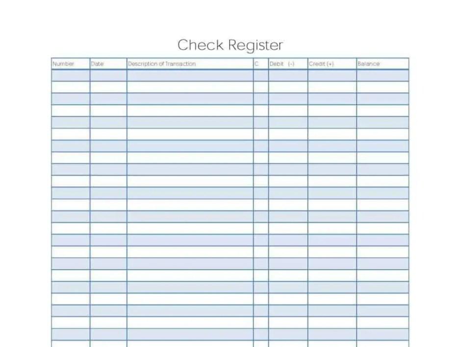 checkbook register template 666