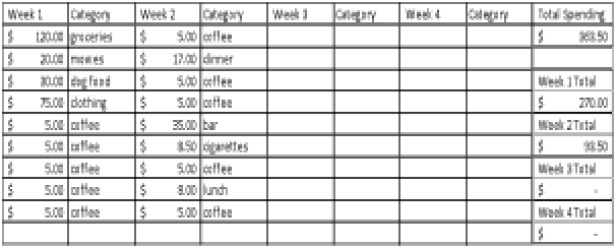 daily budget spread sheet template 111